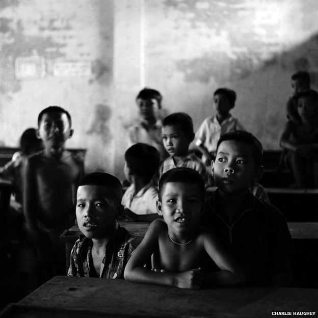 Vietnamese children in a school