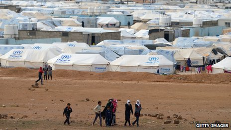 Zaatari refugee camp (30 January 2013)