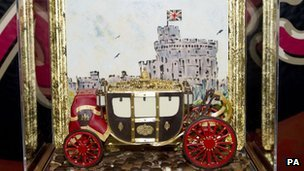 The edible carriage presented to the Queen