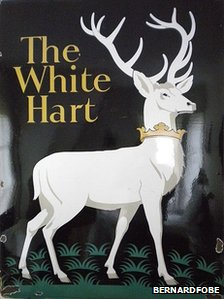 White Hart pub sign