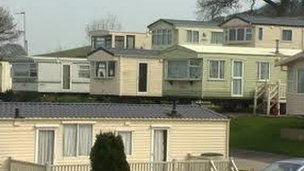 Static caravans on a site