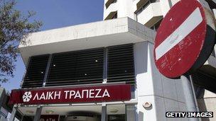 Laiki Bank in Cyprus