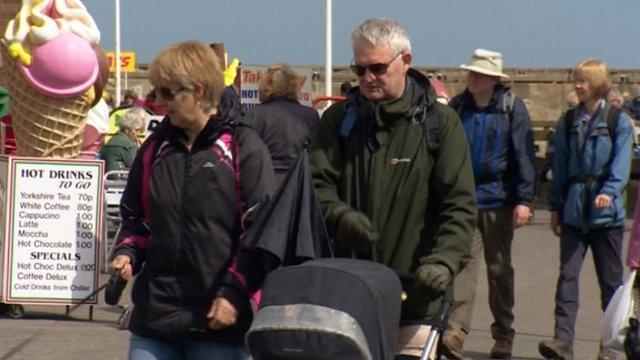 Tourists in Bridlington