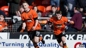 Rory Boulding fired Dundee United into the top six