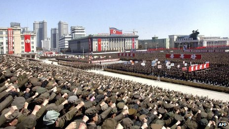 Rally in Pyongyang, 29 March 2013