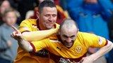 Motherwell forwards Michael Higdon and James McFadden