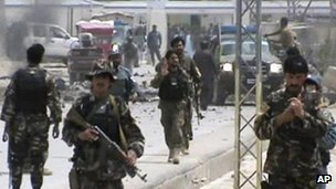 Blast aftermath in Qalat, Zabul