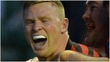 Chris Ashton celebrates after scoring Saracens' second try