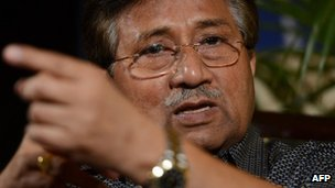 Pervez Musharraf in Karachi (31 March 2013)