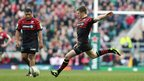 Saracens fly-half Owen Farrell kicked over five penalties from five attempts in a superb kicking display