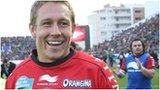 Toulon fly-half Jonny Wilkinson celebrates victory