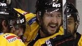 Nottingham Panthers celebrate the first goal against Belfast Giants