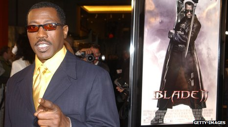Wesley Snipes at the premiere of Blade 2