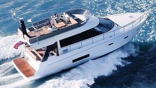 Luxury boat by Sealine