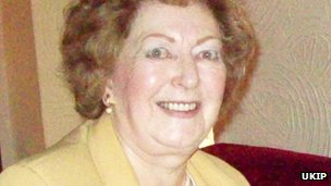 Audrey Spencer, UKIP candidate for Coker ward, Somerset County Council elections. Passed away April 2013.
