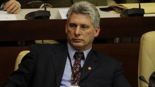 Miguel Diaz-Canel at the closing session of the  National Assembly in Cuba on 24 February, 2013