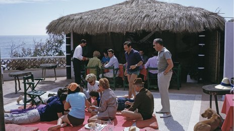 Marbella holiday makers in the 1960s