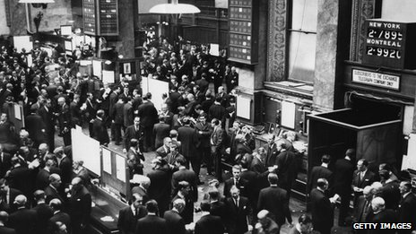 Jobbers at Stock Exchange in 1960s