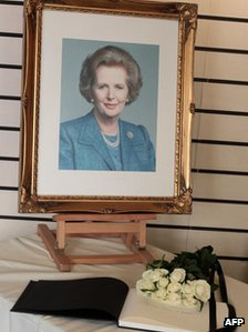 Book of condolence at Grantham museum