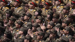North Korean military members in 2012