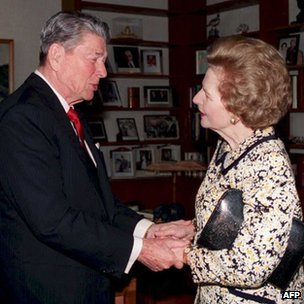 Ronald Regan and Lady Thatcher