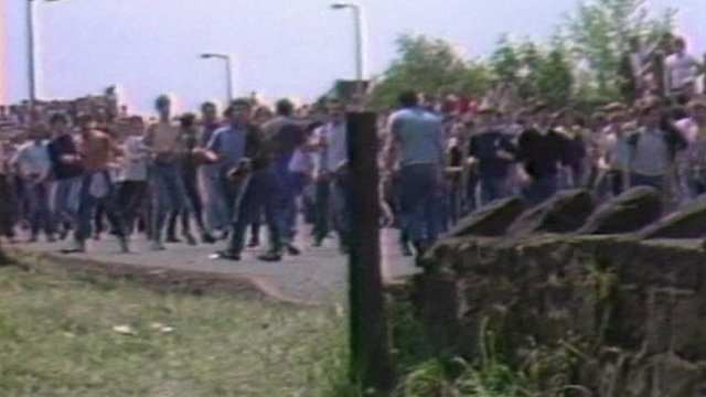 Miners strike over pit closures in the 1980s