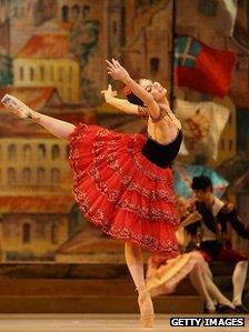 Natalia Osipova in a dress reversal of Don Quixote at the Royal Opera House