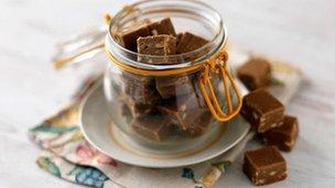 Sophie Dahl's peanut butter fudge