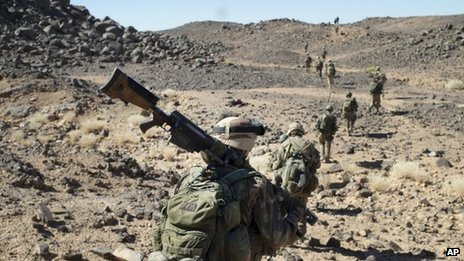 French troops in northern Mali - March 2013