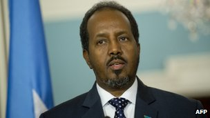 Somali President Hassan Sheikh Mohamud in Washington on 17/1/13