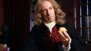 Isaac Newton played by Jonathan Hyde