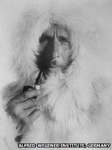 Alfred Wegener with a fur cap.