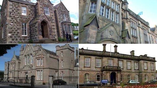 Rothesay, Haddington, Stonehaven and Dingwall Sheriff Courts