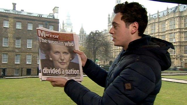 Joe with a newspaper