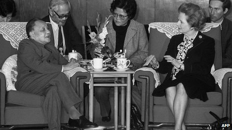 19 December 1984: Chinese leader Deng Xiaoping and Margaret Thatcher in Beijing