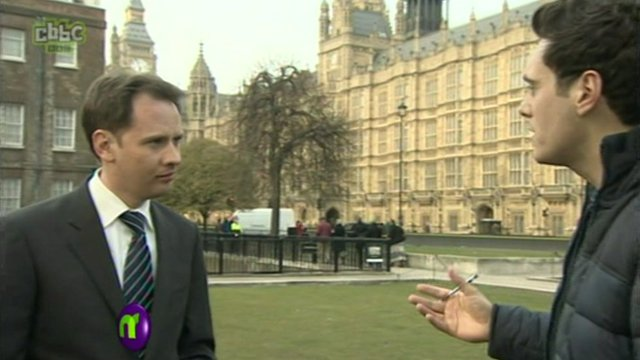 Joe speaks to BBC political correspondent Ross Hawkins