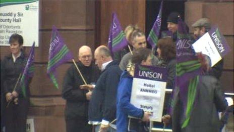 Denbighshire protest