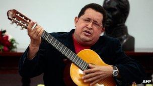 Late Venezuelan president Hugo Chavez