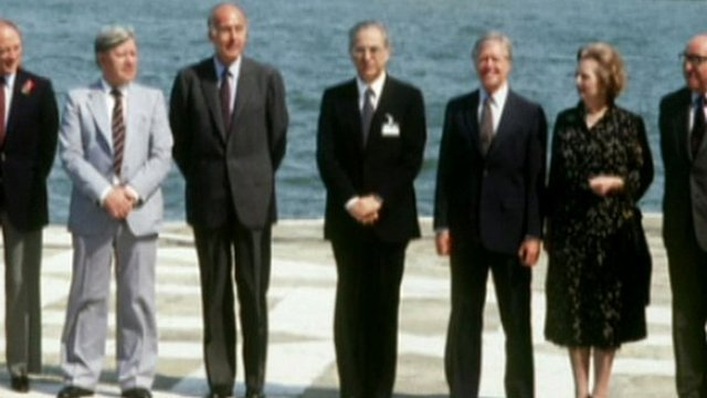 Margaret Thatcher pictured at a photo-call