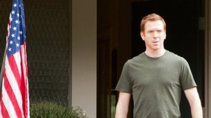 Damian Lewis and US flag