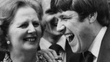 Margaret Thatcher and Emlyn Hughes