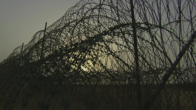 Fence on Yemen border