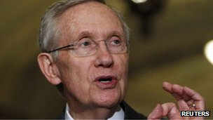 Harry Reid in Washington DC 9 April 2013