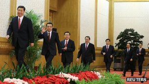 China's new leaders in Beijing