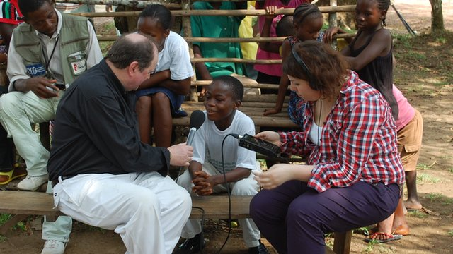 A young Liberian child actor talks to James Naughtie