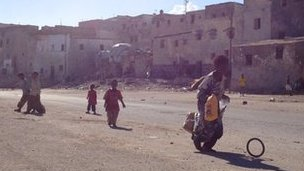 Children playing in the street in Mogadishu
