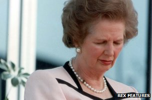 Margaret Thatcher caught napping, 1990