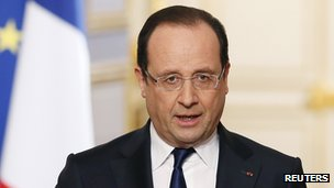 French President Francois Hollande, 10 Apr 13
