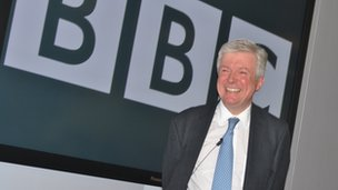 Tony Hall at Broadcast Centre