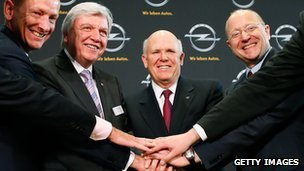 Dan Akerson in the centre, with Opel executives